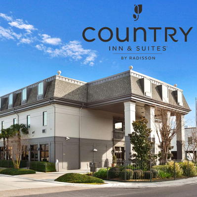Our primary hotel | from $95 | Located in Metairie, 15 min. from event